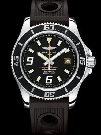 百年灵超级海洋44腕表系列A17391A8/BA78黑海洋竞赛胶带