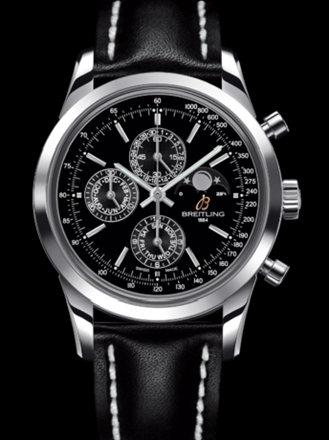 百年灵越洋1461计时腕表系列A1931012/BB68黑皮带
