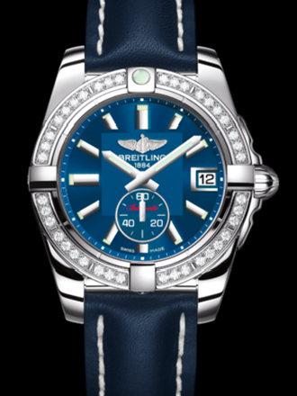 百年灵银河36自动腕表系列A3733053/C824蓝皮带