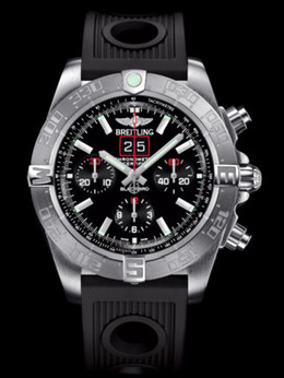 百年灵机械计时黑鸟侦察机腕表系列A4436010/BB71黑海洋竞赛胶带
