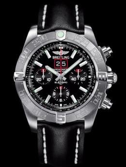 百年灵机械计时黑鸟侦察机腕表系列A4436010/BB71黑皮带