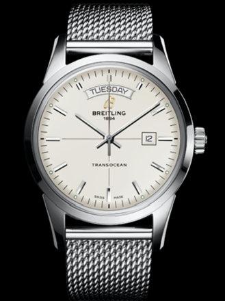 百年灵越洋双历腕表系列A4531012/G751海洋经典钢带