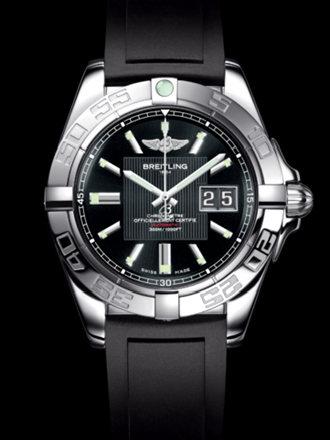 百年灵银河41腕表系列A49350L2/BA07黑深潜胶带