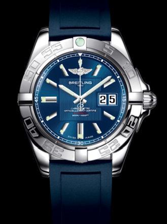 百年灵银河41腕表系列A49350L2/C806蓝深潜胶带