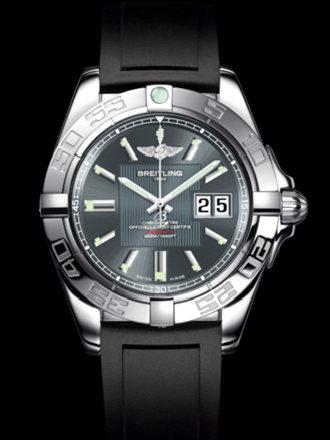 百年灵银河41腕表系列A49350L2/F549黑深潜胶带