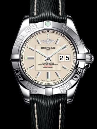 百年灵银河41腕表系列A49350L2/G699黑SAHARA皮带