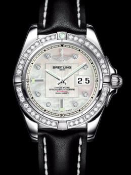 百年灵银河41腕表系列A49350LA/A702黑皮带