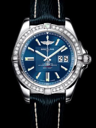 百年灵银河41腕表系列A49350LA/C806蓝SAHARA皮带