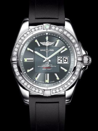 百年灵银河41腕表系列A49350LA/F549黑深潜胶带