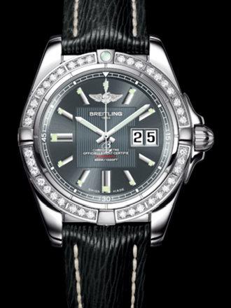 百年灵银河41腕表系列A49350LA/F549黑SAHARA皮带