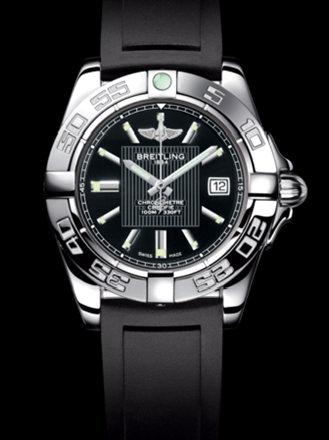百年灵银河32腕表系列A71356L2/BA10黑深潜胶带