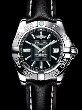 百年灵银河32腕表系列A71356L2/BA10黑皮带