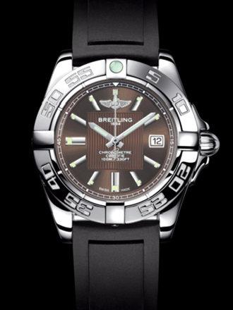百年灵银河32腕表系列A71356L2/Q579黑深潜胶带