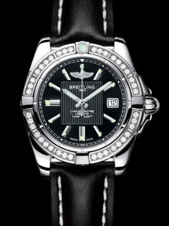 百年灵银河32腕表系列A71356LA/BA10黑皮带