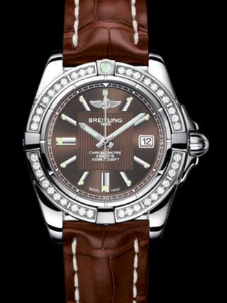 百年灵银河32腕表系列A71356LA/Q579棕鳄鱼皮带