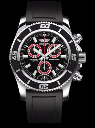 百年灵超级海洋M2000计时腕表系列A73310A8/BB72黑深潜胶带
