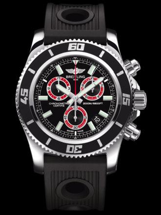 百年灵超级海洋M2000计时腕表系列A73310A8/BB72黑海洋竞赛胶带