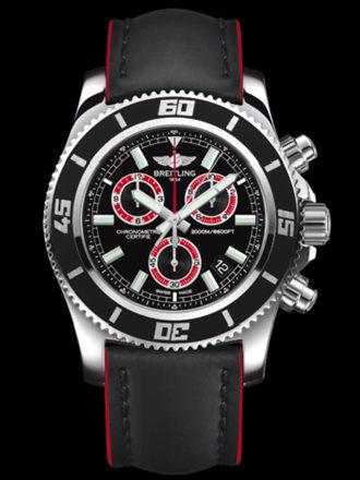 百年灵超级海洋M2000计时腕表系列A73310A8/BB72黑皮带