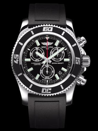 百年灵超级海洋M2000计时腕表系列A73310A8/BB73黑深潜胶带