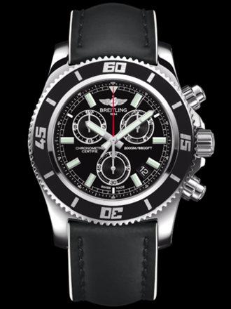 百年灵超级海洋M2000计时腕表系列A73310A8/BB73黑皮带