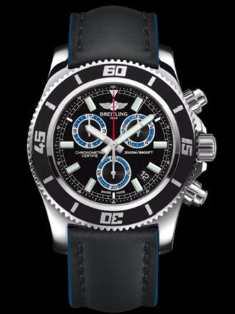 百年灵超级海洋M2000计时腕表系列A73310A8/BB74黑皮带