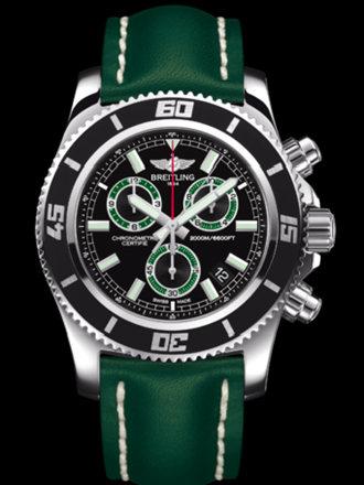 百年灵超级海洋M2000计时腕表系列A73310A8/BB75绿皮带