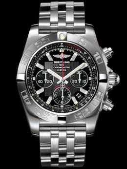 """百年灵机械计时终极计时腕表""""飞鱼""""系列AB011010/BB08飞行员钢带"""