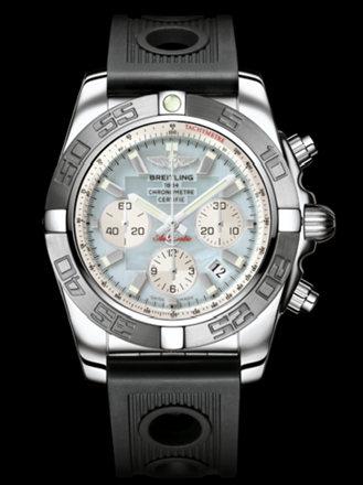 百年灵机械计时终极计时腕表系列AB011011/G685黑海洋竞赛胶带
