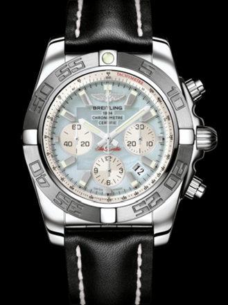 百年灵机械计时终极计时腕表系列AB011011/G685黑皮带