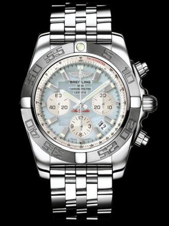 百年灵机械计时终极计时腕表系列AB011011/G685飞行员钢带