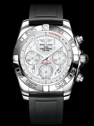 百年灵机械计时41腕表系列AB014012/A747黑深潜胶带