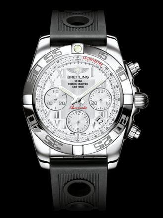 百年灵机械计时41腕表系列AB014012/A747黑海洋竞赛胶带