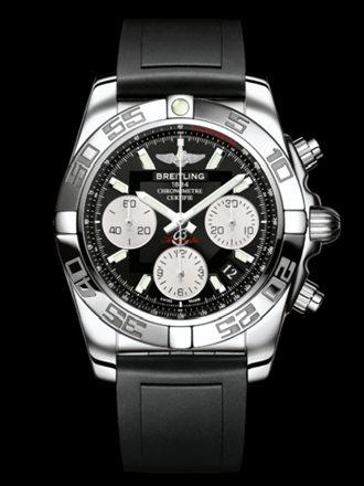 百年灵机械计时41腕表系列AB014012/BA52黑深潜胶带