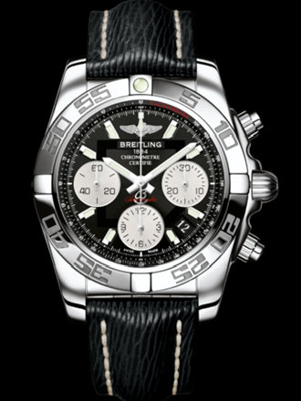 百年灵机械计时41腕表系列AB014012/BA52黑SAHARA皮带