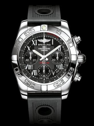 百年灵机械计时41腕表系列AB014012/BC04黑海洋竞赛胶带