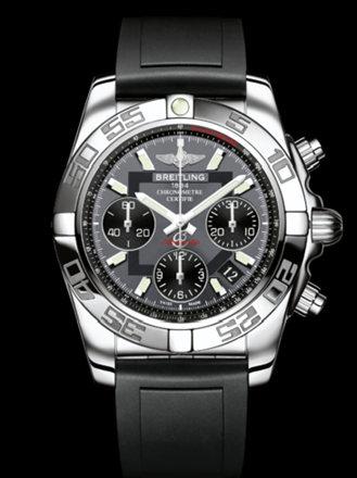 百年灵机械计时41腕表系列AB014012/F554黑深潜胶带