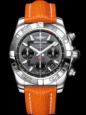 百年灵机械计时41腕表系列AB014012/F554橙SAHARA皮带