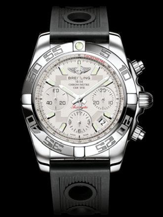 百年灵机械计时41腕表系列AB014012/G711黑海洋竞赛胶带