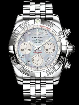百年灵机械计时41腕表系列AB014012/G712飞行员钢带