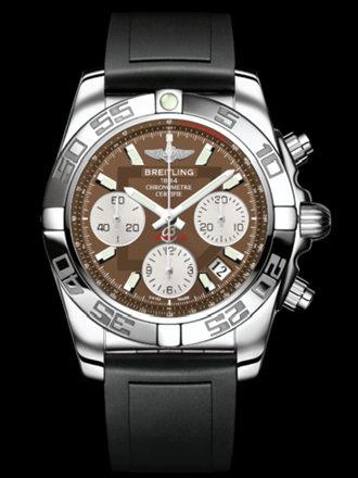 百年灵机械计时41腕表系列AB014012/Q583黑深潜胶带