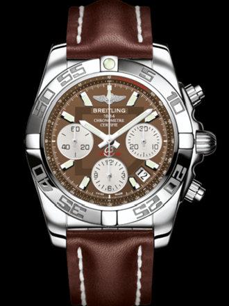 百年灵机械计时41腕表系列AB014012/Q583棕皮带