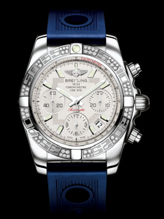 百年灵机械计时41腕表系列AB0140AA/G711蓝海洋竞赛胶带