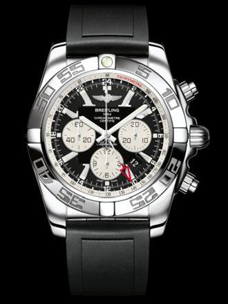 百年灵机械计时GMT腕表系列AB041012/BA69黑深潜胶带
