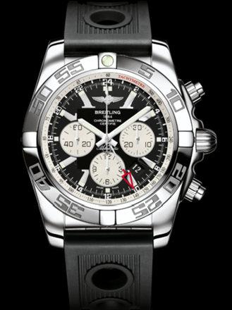 百年灵机械计时GMT腕表系列AB041012/BA69黑海洋竞赛胶带