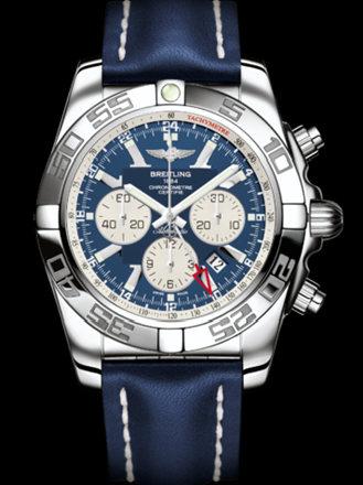 百年灵机械计时GMT腕表系列AB041012/C834蓝皮带