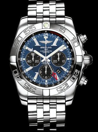 百年灵机械计时GMT腕表系列AB041012/C835飞行员钢带