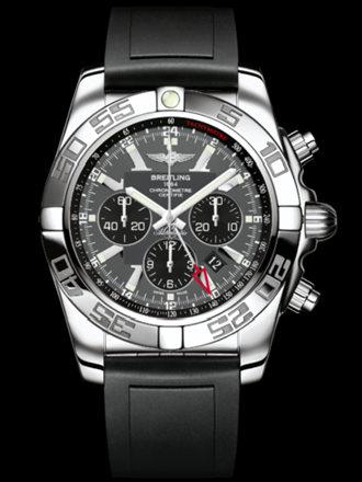 百年灵机械计时GMT腕表系列AB041012/F556黑深潜胶带