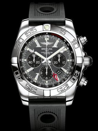 百年灵机械计时GMT腕表系列AB041012/F556黑海洋竞赛胶带