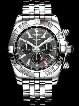 百年灵机械计时GMT腕表系列AB041012/F556飞行员钢带