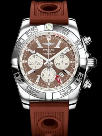 百年灵机械计时GMT腕表系列AB041012/Q586棕海洋竞赛胶带